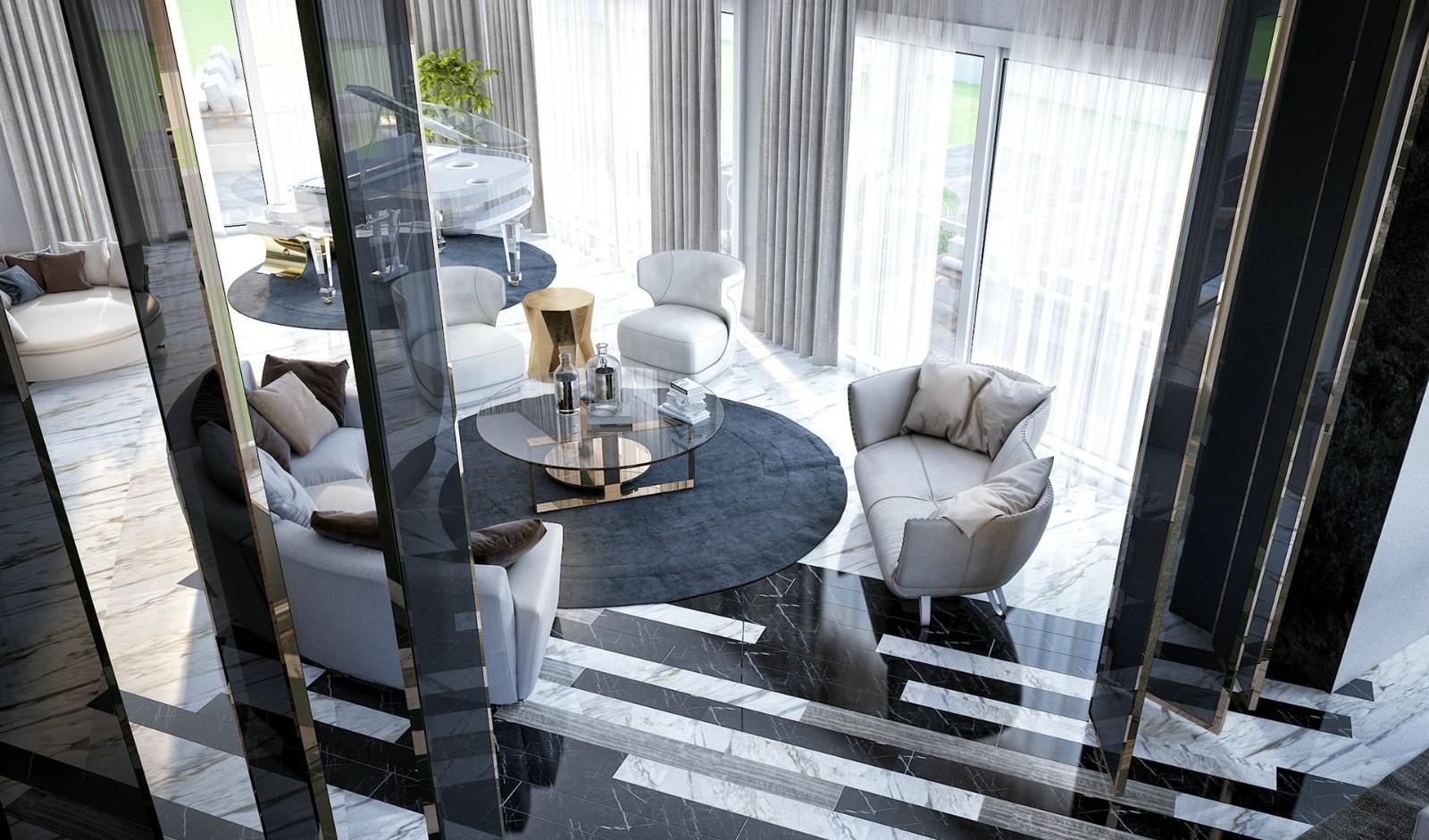 奢华别墅豪宅客厅潮流混搭客厅设计图片赏析