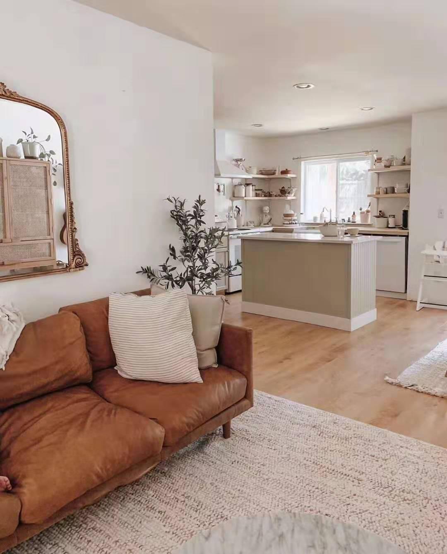 奶油色的温柔小家客厅现代简约客厅设计图片赏析