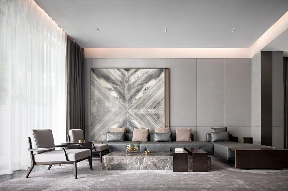 HTD新作|莫兰迪色演绎现代奢华空间客厅其他客厅设计图片赏析