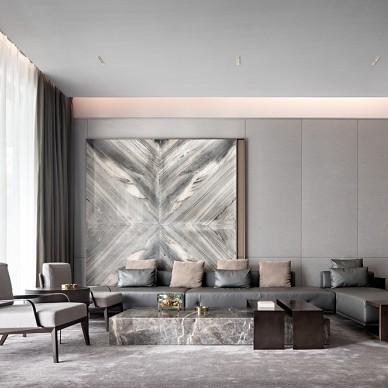 HTD新作 | 莫兰迪色演绎现代奢华空间——客厅图片