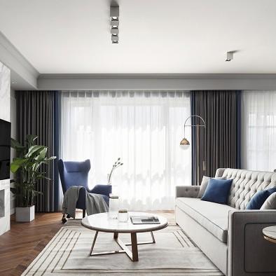 深白设计 温柔蓝灰调,唤醒心中对家的渴望