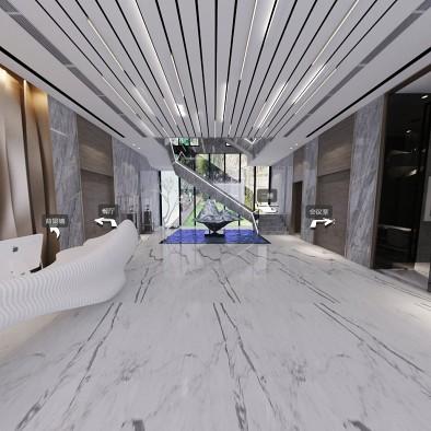 尊璞国际设计——银恒办公楼一楼