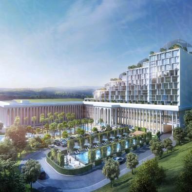 东南亚文娱商业地产项目-瀑布酒店
