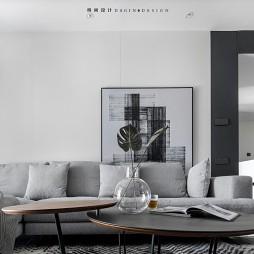 顏值在線極簡風,用黑白灰締造品質生活——客廳圖片