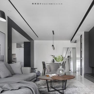 颜值在线极简风,用黑白灰缔造品质生活——客餐厅图片