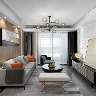重庆智慧小镇云集1-1户型样板间设计——客厅图片
