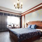 中式古典別墅豪宅——臥室圖片