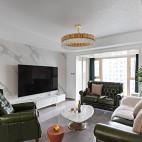 【初一】苍翠欲滴-轻奢极致演绎——客厅图片