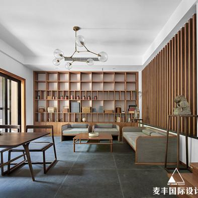 一间大茶室 300㎡清雅民宿风