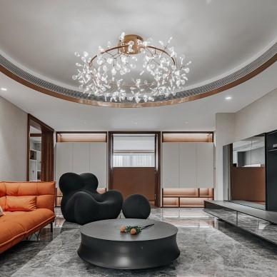 户型改造神操作,167㎡体验墅装生活方式——客厅图片