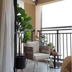 莫兰迪色系的家——阳台图片