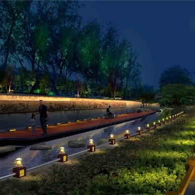 北河沿运河夜景照明提升工程意象