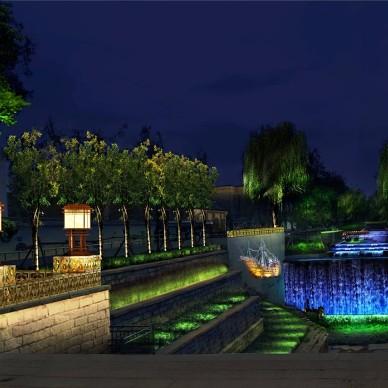 北河沿运河夜景照明提升工程意象_3964662