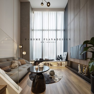 45㎡LOFT全挑空公寓样板间——客厅图片