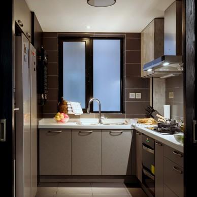 138㎡单身男士的家,高级的黑白灰——厨房图片