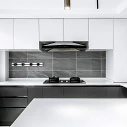 紧凑型两居的黑白艺术交响曲——厨房图片