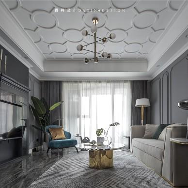 145平美式轻奢风——客厅图片