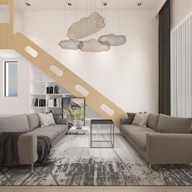 现代美学居室空间,有滑梯的童年会更有趣