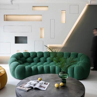 现代简约四室住宅——客厅图片