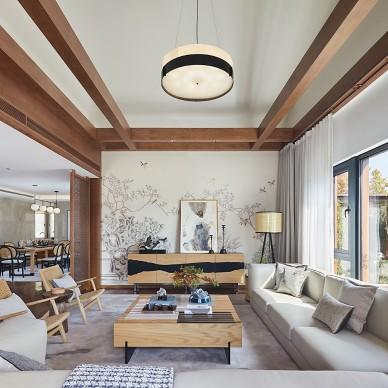 都市逃离计划:太湖西山岛480㎡度假别墅——客厅图片