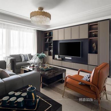 轻奢风|高级而有品味的质感生活——客厅图片