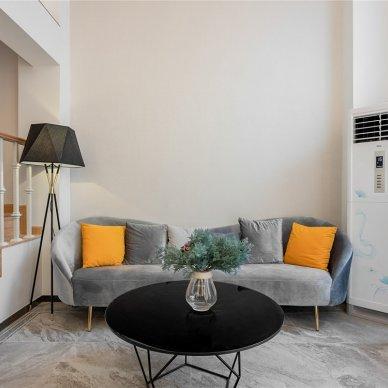客厅图片——现代轻奢别墅,轻享白色畅想曲