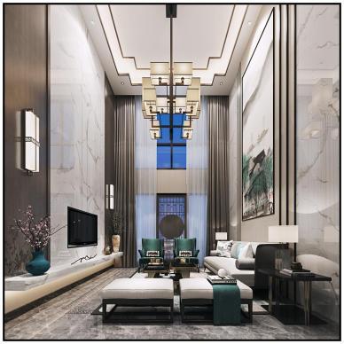 新中式家装效果图表现合集_4005840