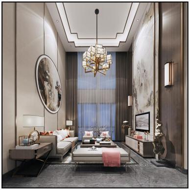 新中式家装效果图表现合集_4005841
