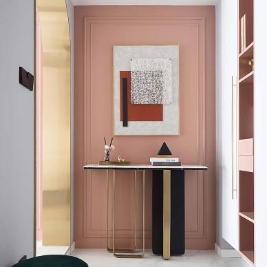 玄关图片   粉色控的家,精致又高级_4008753