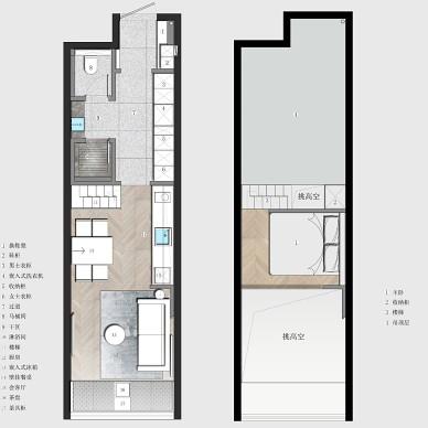 33平方全能小公寓,仅3.5米做二层_4014739
