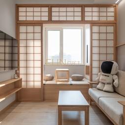 日式原木住宅-客厅图片