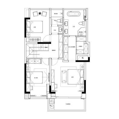 簡約別墅   質感考研下舒適和樸質