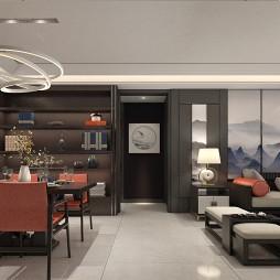 中式轻奢住宅设计案例_4030275