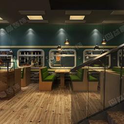 南昌绿皮车复古风餐厅装修设计案例赏析_4030445