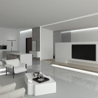 极简 景粼原著复式住宅设计_4040392