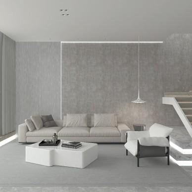极简 景粼原著复式住宅设计_4040391