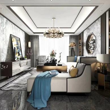 新中式客厅设计案例_4043221