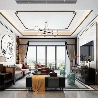 新中式客厅设计案例_4043222