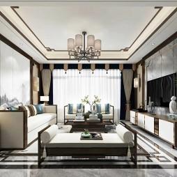 新中式客厅设计案例_4043225