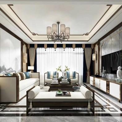 新中式客厅设计案例