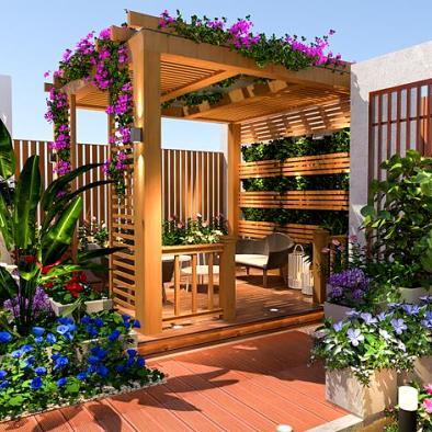 天台花园设计
