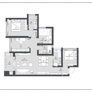 89平小四房 | 每个空间都宽敞明亮_4080755