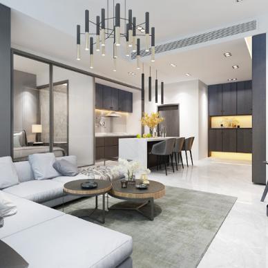 加拿大公寓装修设计室内设计效果图_4083949