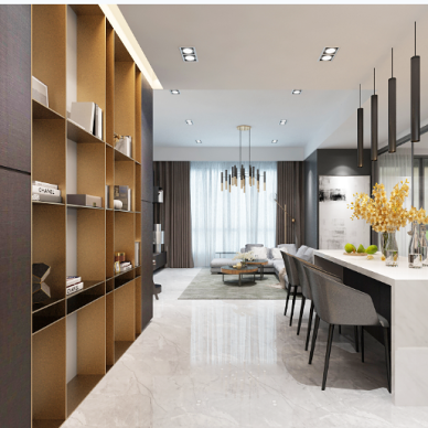 加拿大公寓装修设计室内设计效果图_4083951