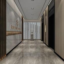 中西结合淡雅办公室装修案例赏析_1586164779_4101519