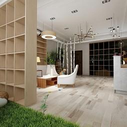 欧式原木风产销店铺装修案例效果图_1586508518_4106804