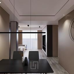 80m²平层公寓 | 当黑白灰遇上色彩_1588325264_4129705