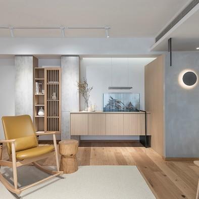 拥有图书馆氛围,北欧+日式范儿的自在栖居