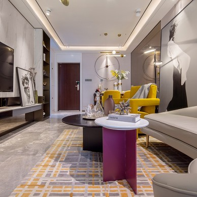 軒境設計丨錦色——自然簡約,輕奢格調_1589858237