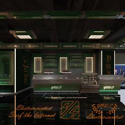 优雅时尚电竞馆模块,网吧网咖模块装修公司_1589960320_4148253